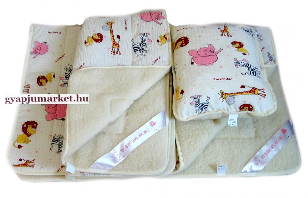 3 részes gyermek ágynemű garnitúra gyapjú / pamut
