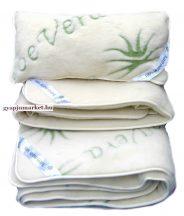 Bárány merino gyapjú ágynemű garnitúra Aloe-Vera  (derékalj, takaró, párna)
