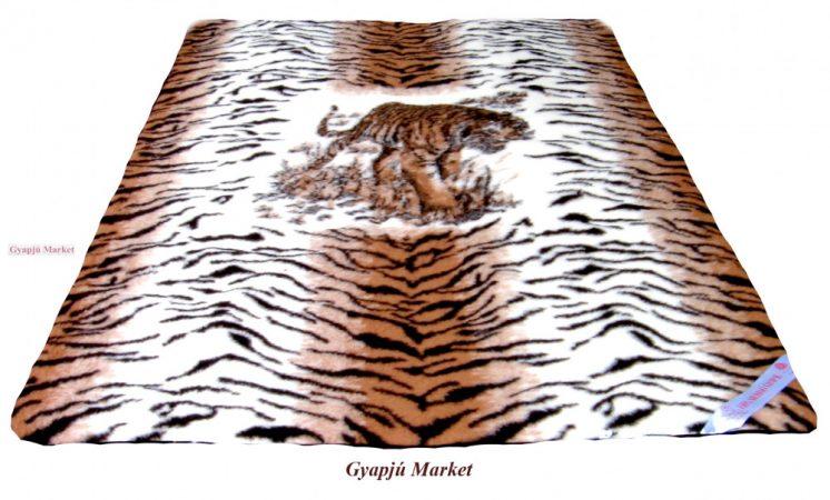 Bárány merino gyapjú takaró TIGRIS  MINTÁS 140*200cm 450g/m2