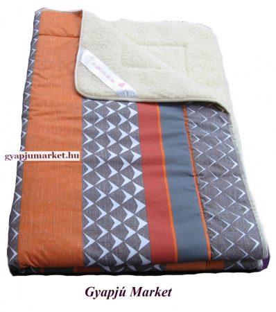 Nyári merino gyapjú - pamut takaró többléle mintával