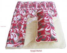 2 részes merino gyapjú  / pamut szett (takaró, párna) cseppmintás