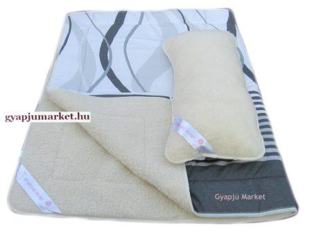 2 részes merino gyapjú  / pamut szett (takaró, párna)