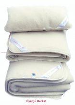 3 részes bárány merino gyapjú ágynemű garnitúra natúr (derékalj, takaró, párna)