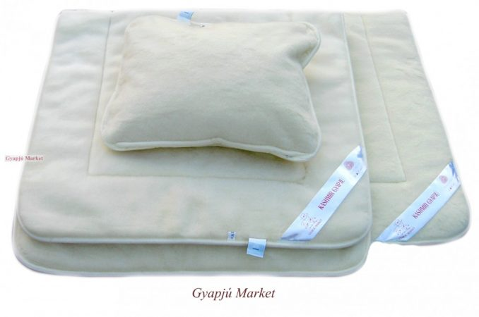 Kashmír gyermek garnitúra (derékalj, takaró, párna)  650g/m2