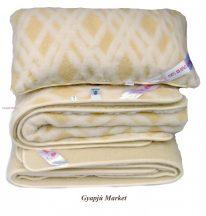 Bárány merino gyapjú garnitúra   RÁCSOS MINTÁS (derékalj, takaró, párna) 520g/m2