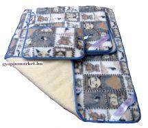 3 részes gyermek bárány gyapjú garnitúra, a legfinomabb merinó gyapjúból készítve (derékalj, takaró, párna)