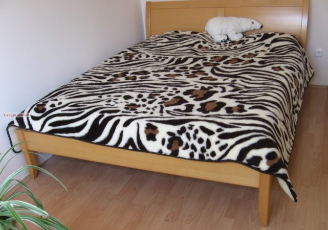 Kétszemélyes bárány merino gyapjú francia takaró-ágytakaró 200x220 cm