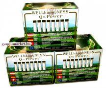 Q10 POWER WELLhappyNESS étrend-kiegészítő 90 db 3 doboz                    Flakononként  30mg Q10 koenzim!